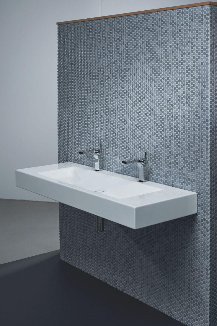 Bette Aqua Wand-Waschtisch mit Hahnloch, A068 1200 x 495 mm