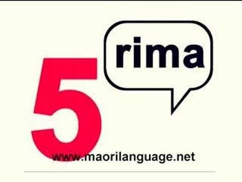 Learn To Count in Maori - YouTube