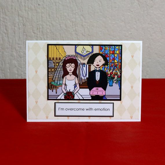The Jane To My Daria Greeting Card by HoneysDead on Etsy