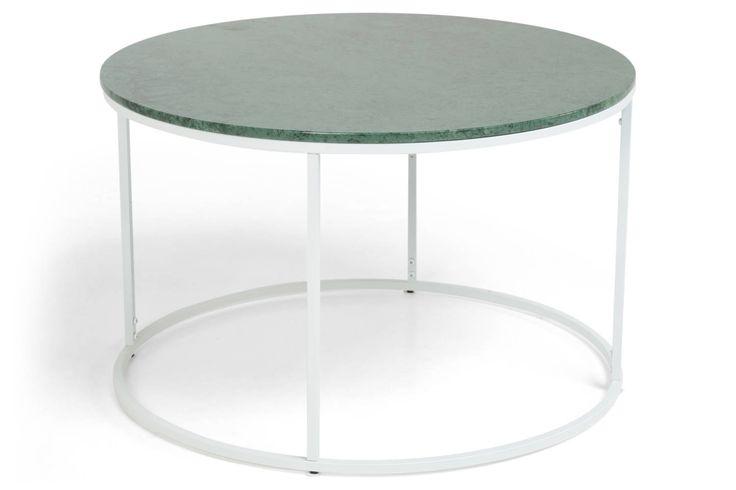Carrie soffbord grön marmor.