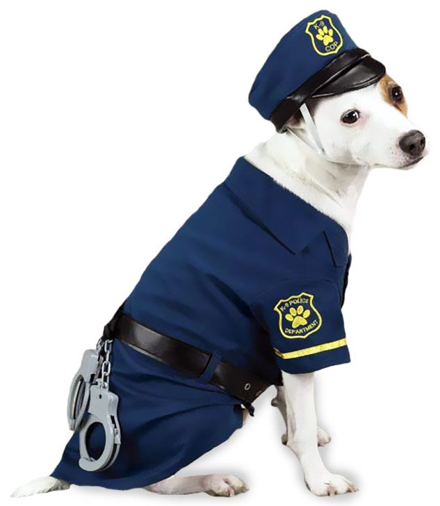 casual canine k9 cop costume dog halloween costume - Dogs With Halloween Costumes On