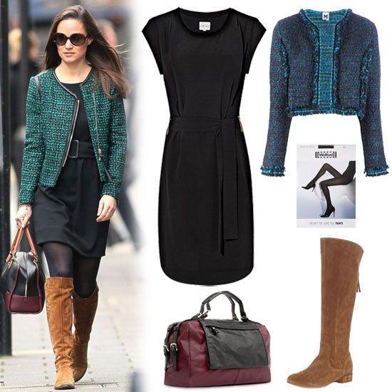 Пиппа Мидлтон твидовый пиджак Экипировка | 26 ноября 2012 | PopSugar Стиль & Trends