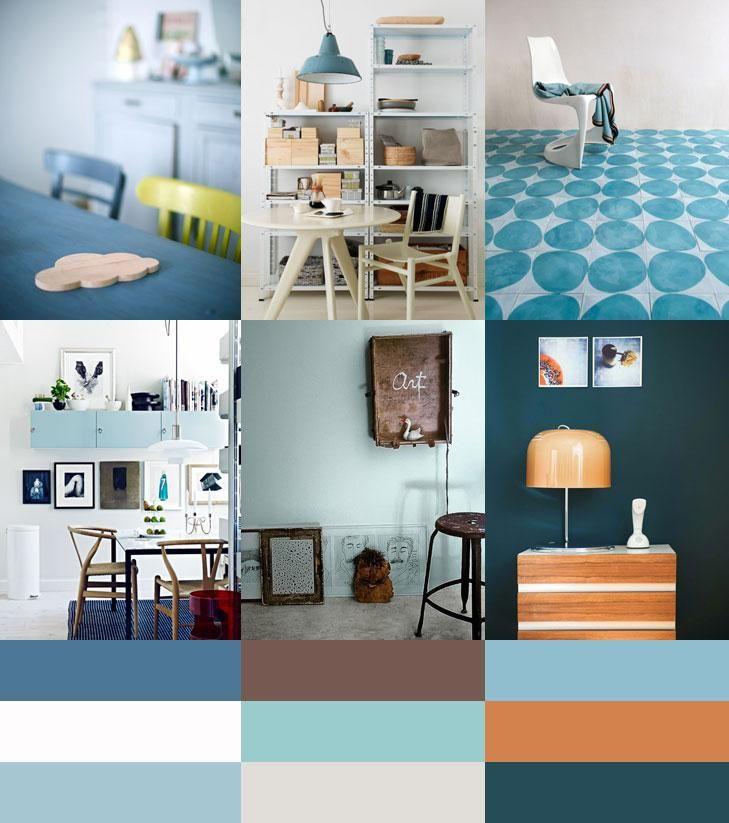 Kleurtrend Permanent Blue (gemaakt door Irene Hoofs van Bloesem)