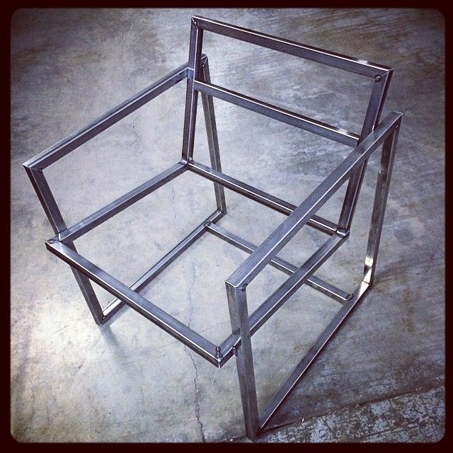 Tack #Welded #Mockup of the #Chair I'm #Fabricating …. I told you it was a chair… The #Future is now!… #Design #Welding #Woodwork #Fabrication…