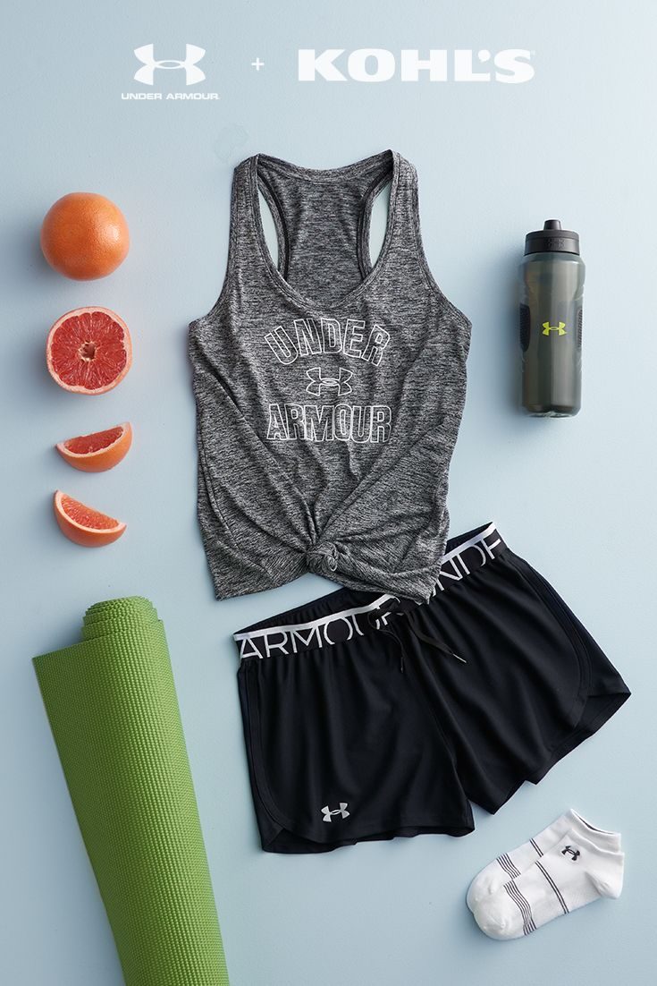 When the good vibes start flowing, you'll want to keep going. That's why we love this comfortable and loose-fitting workout look for practicing yoga. Plus, it's so cute, you might just want to wear to go grab that post-class juice, too. Get your start with Under Armour, now at Kohl's.