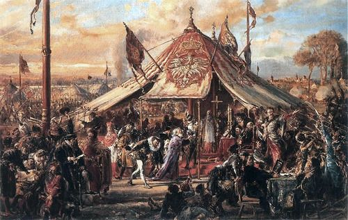 Jan Matejko - Polish–Lithuanian Commonwealth at Zenith of Power 1889