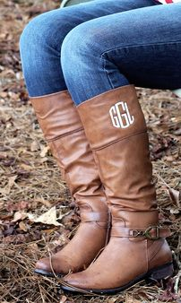 Monogrammed Riding Boots the perfect must have pair of boots! Perfect Christmas Gift