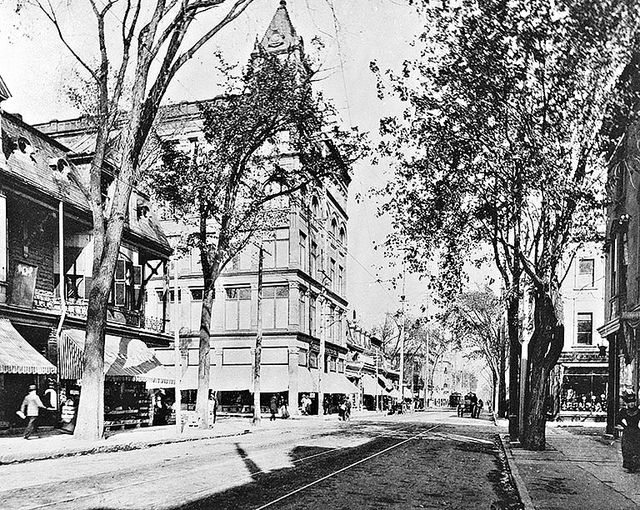 Saint Catherine Street, Montreal, QC, about 1890, copied ca.1965