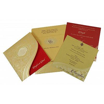 Hindu wedding invitations by 123WeddingCards Card details : https://www.123weddingcards.com/card-detail/W-1798 #hinduweddingcards #hindu #weddingcards