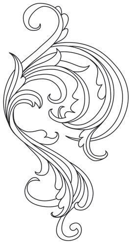 Gilded Heraldry - Flourish design (UTH7850) from UrbanThreads.com: