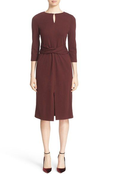 Lafayette 148 New York Wrap Front Keyhole Dress available at #Nordstrom