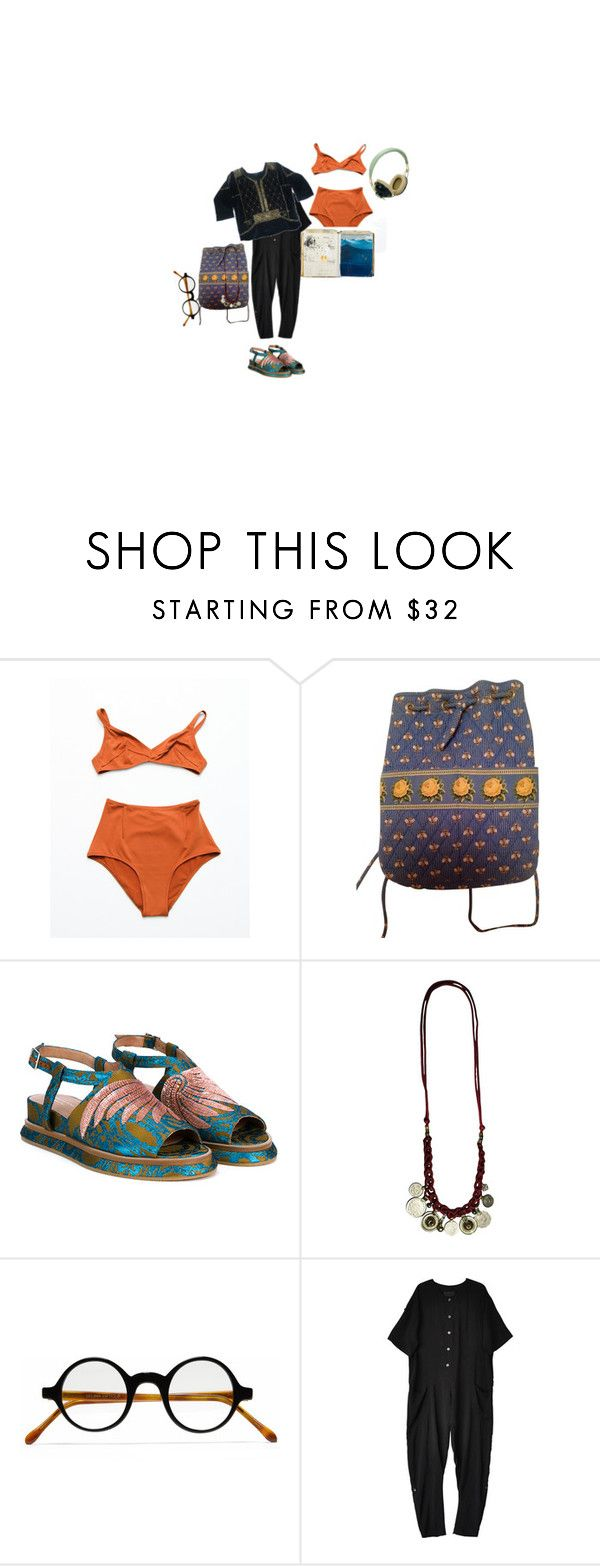 """""""Art school is so nice"""" by duvide ❤ liked on Polyvore featuring Pull&Bear, Laura Urbinati, Vera Bradley, Dries Van Noten, Selima Optique, No.6 and Isabel Marant"""