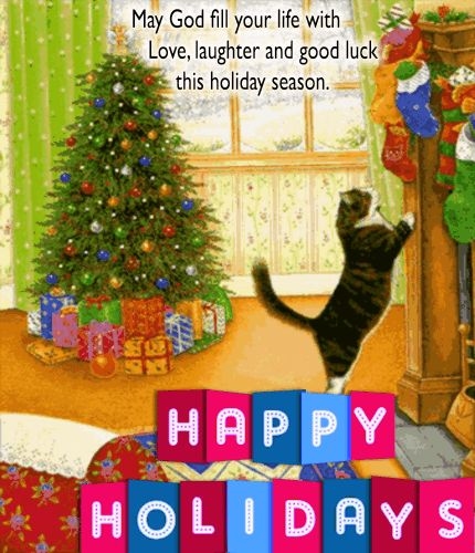 Wish your loved ones a purr-fect holiday filled with love & laughter using this #ecard. #HappyHolidays #TuesdayMotivation