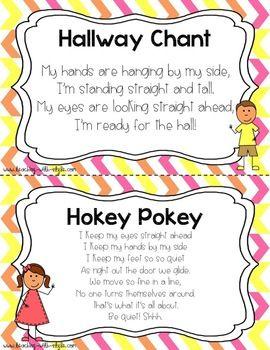 Hokey pokey line up song. So cute!