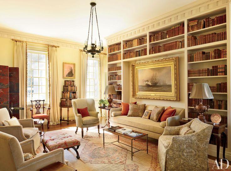 Home Library Bookshelf Design Photos   Architectural Digest