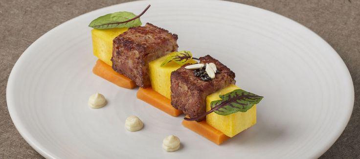 Mortadella Arrostita, carote diverse e salsa di pane. Scoprite online la ricetta esclusiva di febbraio creata dallo chef D'O - Davide Oldani