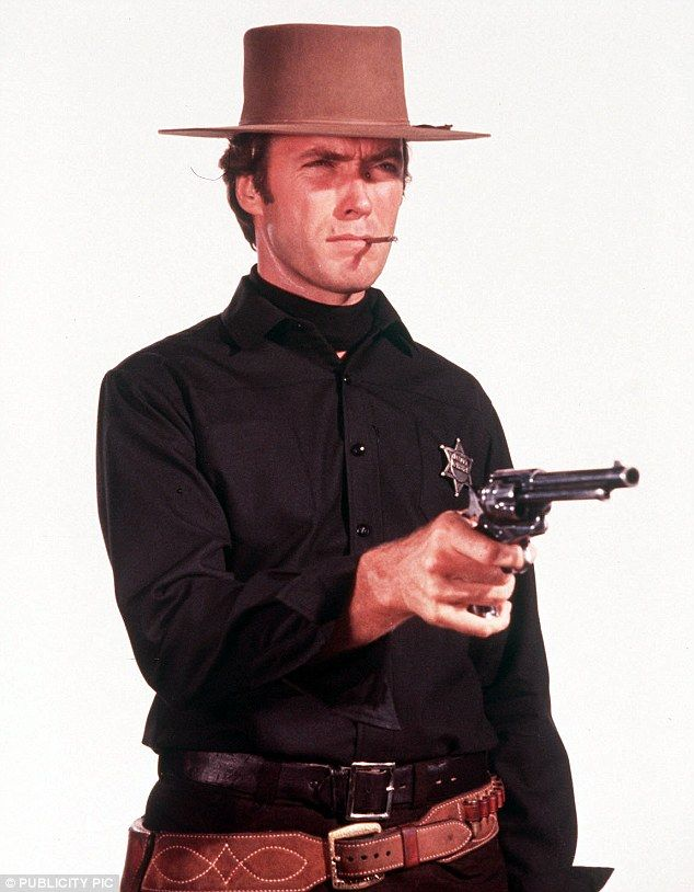 Clint Eastwood pictured on the set of 1967 film Hang 'Em High