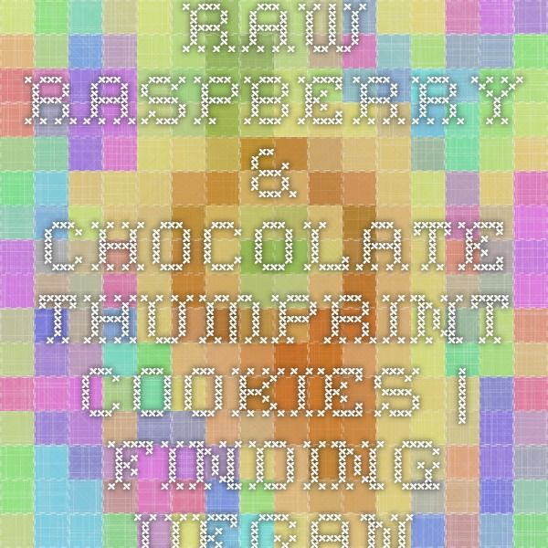 Raw raspberry & chocolate thumprint cookies | Finding Vegan