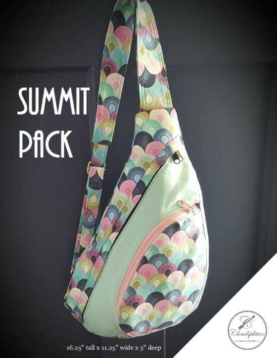 The Summit Pack – A Sleek, Sporty, and Modern Bag! A PDF #Sewing Pattern from Cloudsplitter Bags