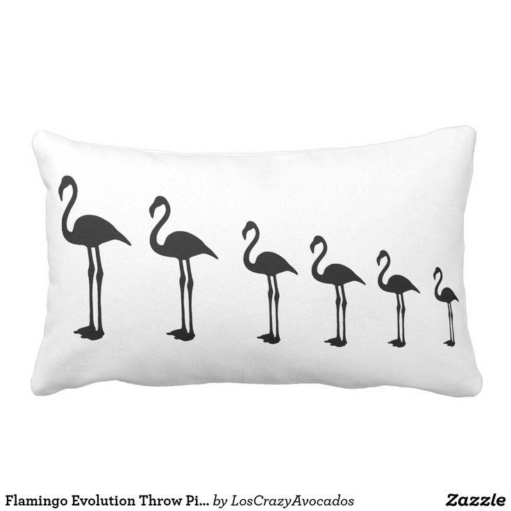 Flamingo Evolution Throw Pillow