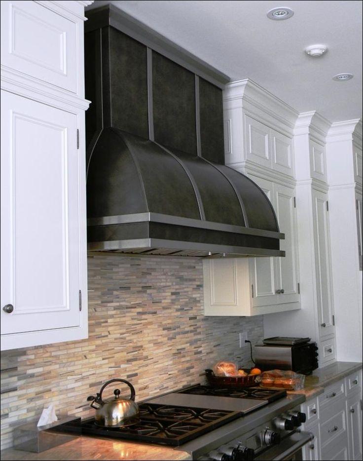 Custom Range Hoods: Blackened Steel With Brushed Stainless Trim | Great  Kitchen Ideas | Pinterest | Ranges, Stainless Steel Oven And Oven Hood