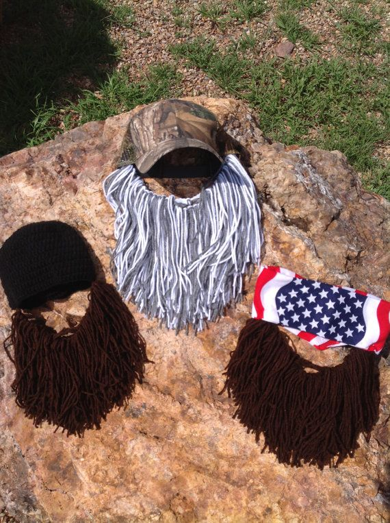 *Duck Dynasty inspired bearded hats by taylinshaven on Etsy, $25.00- I don't watch the show by my parents and lots of my friends love it. These are pretty funny for fans*