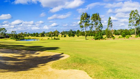 Discover the amazing course of Macquarie Links International Golf Club! Enjoy 18 holes for two including a shared motorised cart, a warm up basket of range balls & a refreshing beer each after your round. Normally $190, this offer just $110. #golf #golfsyd