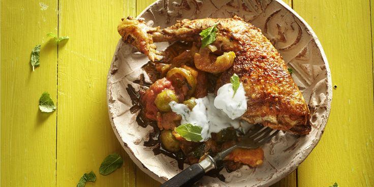 Boodschappen - Marokkaanse stoofschotel met kip, ras el hanout en olijven