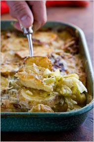 Potato and Leek Gratin With Cumin - by Martha Shulman, NYTimes        Twitter      Linkedin      Sign In to E-Mail      Print      Reprints      Share    By MARTHA ROSE SHULMAN