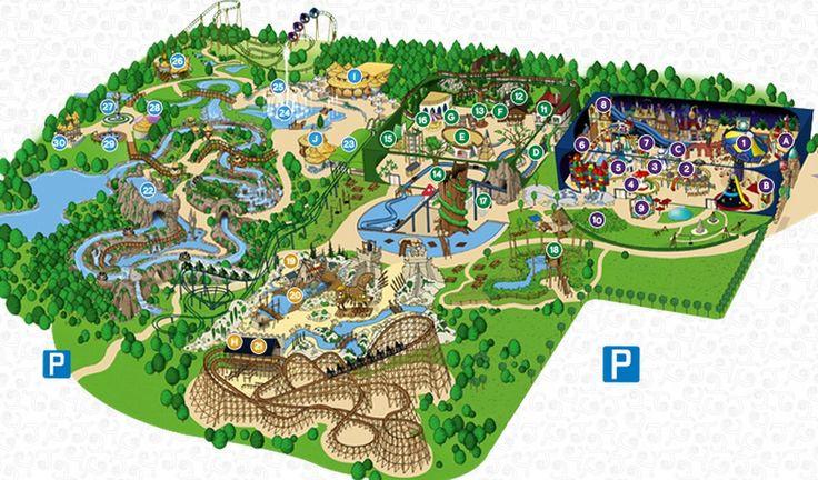 Toverland Freizeitpark in Sevenum, Limburg 10 bis 17/19/20/22/23 Uhr je nach Tag 23,50 Euro, Kinder 16 Euro
