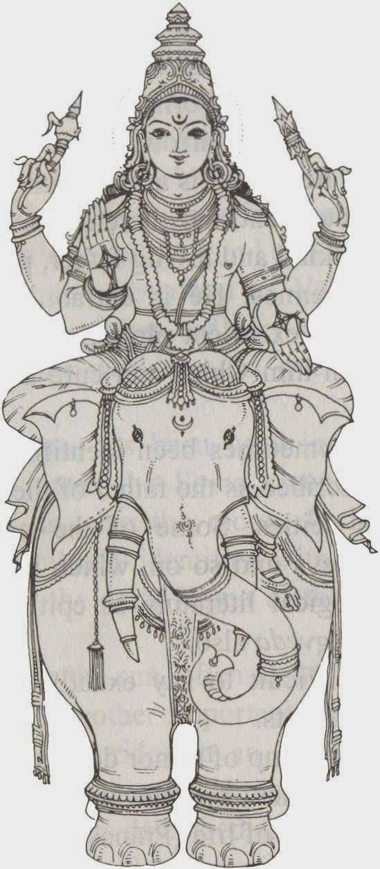 Indra Śakra is the leader of the Devas or gods and the lord of Svargaloka/heaven in the Hindu religion. He is the god of rain and thunderstorms. He wields a lightning thunderbolt known as vajra and rides on a white elephant known as Airavata. Indra is one of the chief deities and is the twin brother of Agni, said to be born of Dyaus Pitar (Father Heaven) and Prithvi Mata (Mother Earth). [2] He is also mentioned as an Aditya, son of Aditi. His home is situated on Mount Meru in the heaven.