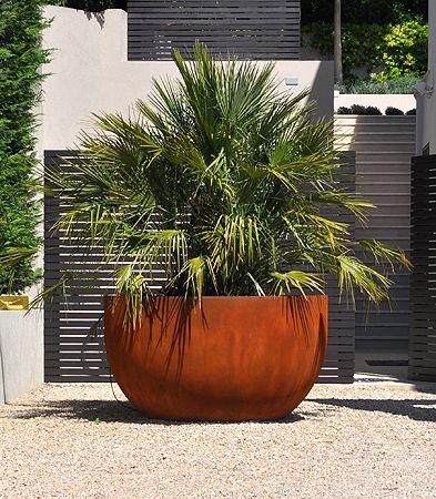 Corten steel planter // Urbis Design