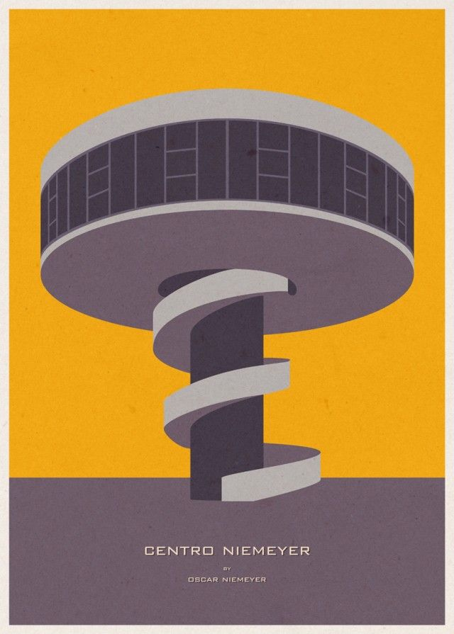 Architecture Posters by Portuguese illustrator André Chiote