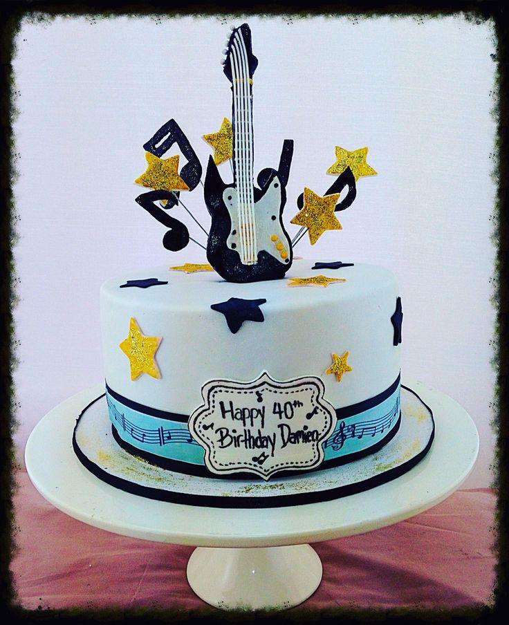Music Themed Square Th Birthday Cake