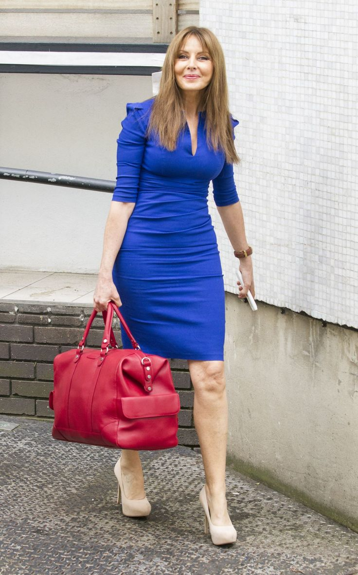 Carol Vorderman Wears Beautiful Blue Dress Beautiful