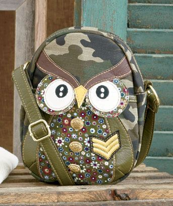 Camo Owl Bag Collection = TOO CUTE!