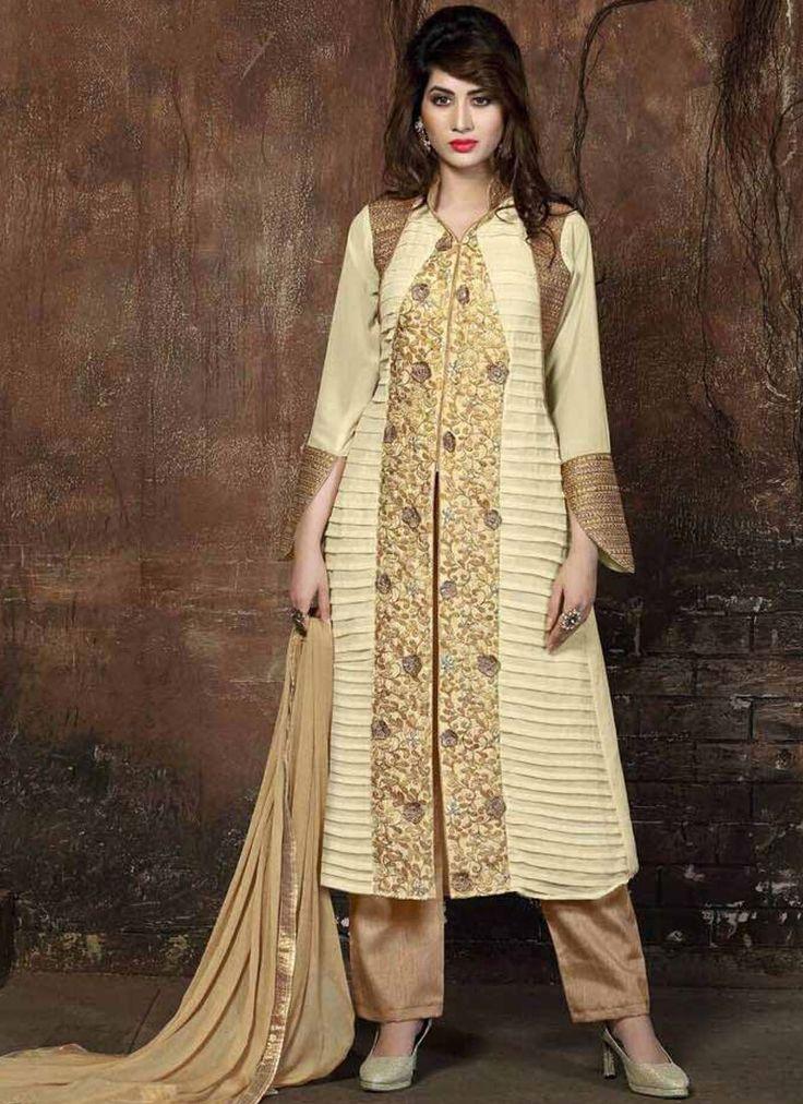 Girlish Embroidered Work Georgette Designer Pakistani Salwar Suit