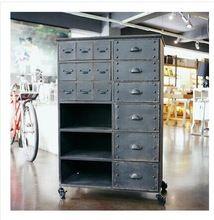 Американский кантри , чтобы сделать старый стиле ретро чердак промышленных металлов для хранения ящики сторона кабинет шкафчики(China (Mainland))