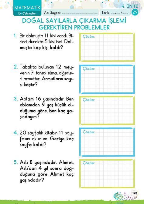 1. Sınıf Konu Anlatım EV ÇALIŞMALARI