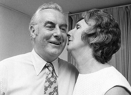 Margaret and Gough Whitlam. She had her own opinions even political ones.