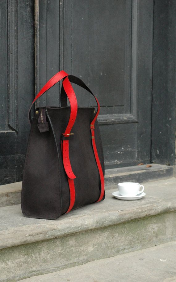 Handgemachte Übergröße Frau Handtasche große schwarze von ladybuq
