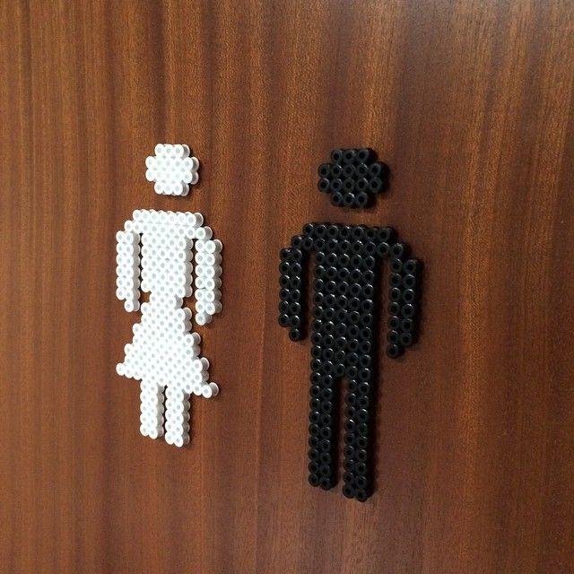 Toilet sign hama perler beads by janchik77
