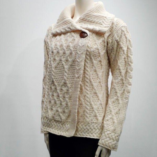Carraig Donn Merino Wool Trellis Cardigan
