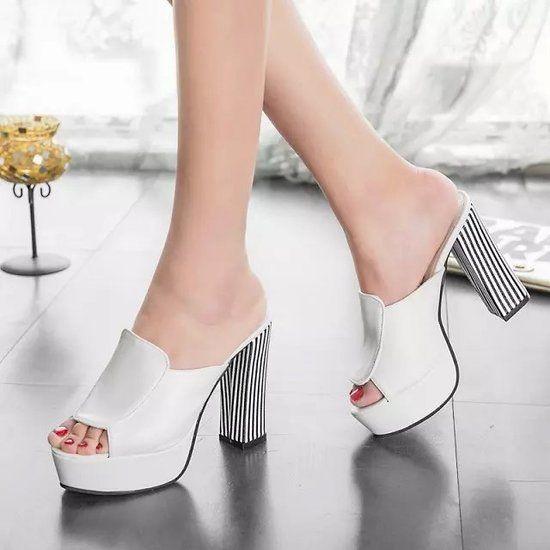 Verano de 2015 nuevo cuero sandalias y zapatillas sandalias de la plataforma zapatos cuñas zapatos de plataforma con comodidad en corea B0990