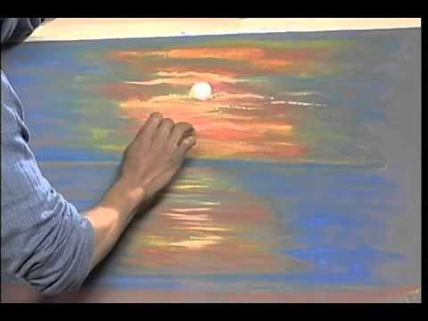 chalk sunset tutorial | Great Chalk Drawings | Pinterest