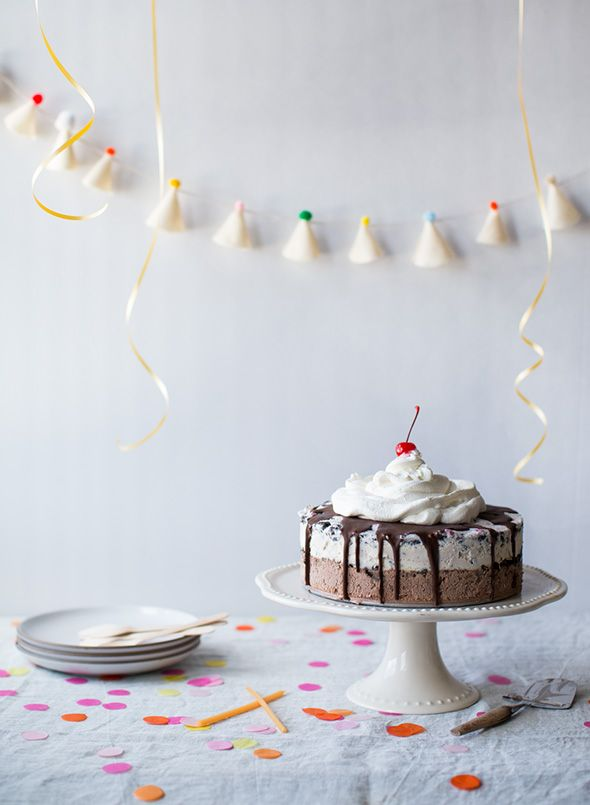 Homemade carvel ice cream cake