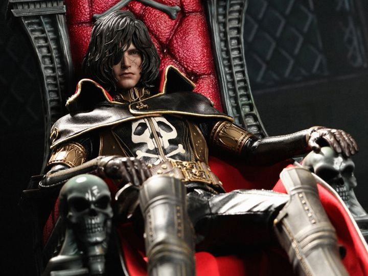 BigBadToyStore - Space Pirate Captain Harlock MMS223 Captain Harlock with Throne of Arcadia 1/6th Scale Collectible Figure