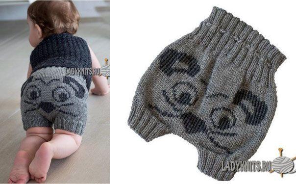 Вязаные шорты для малыша. Схема и описание