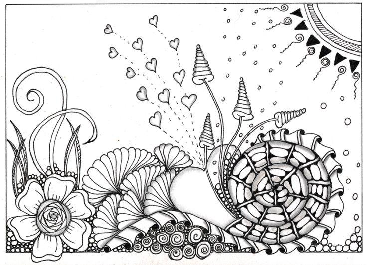 Just discovered Zentangle en doodling
