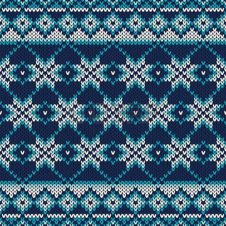 Seamless Fair Isle Modelo hecho punto. Diseño Suéter festiva y de moda
